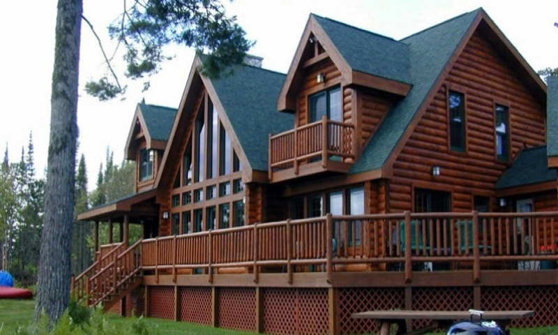 Greatwood log homes floor plans log home open floor plan for Open floor plans log homes