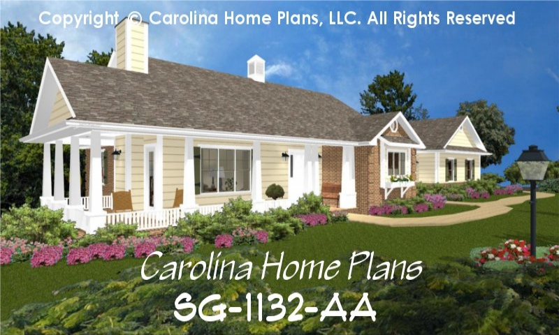 Brick one story house plans small brick house plans brick for Brick country house plans