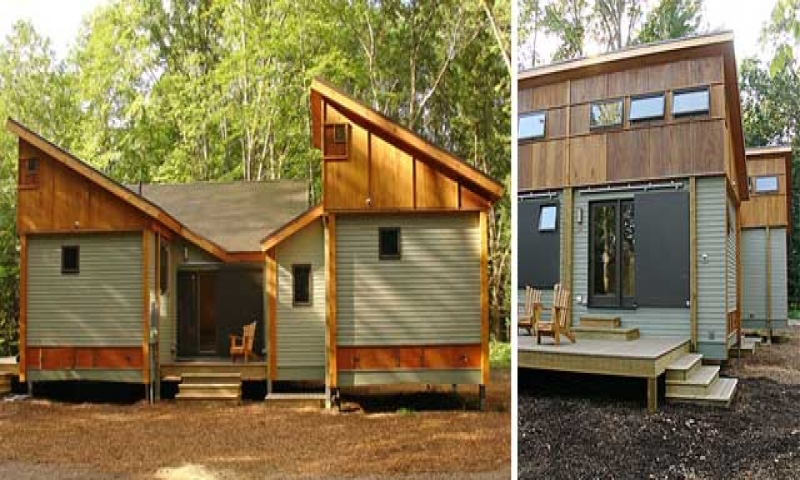 Small modular cabins and cottages small modular homes for Energy efficient cabin