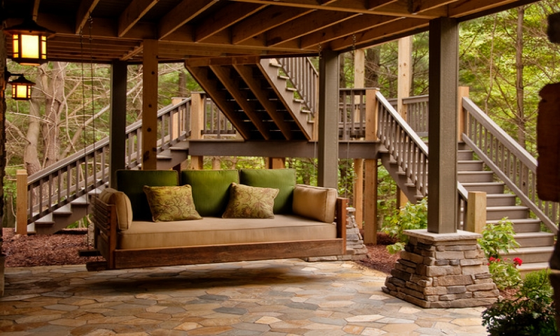 Hanging A Porch Swing Under A Deck Porch Swing Bed Cabin