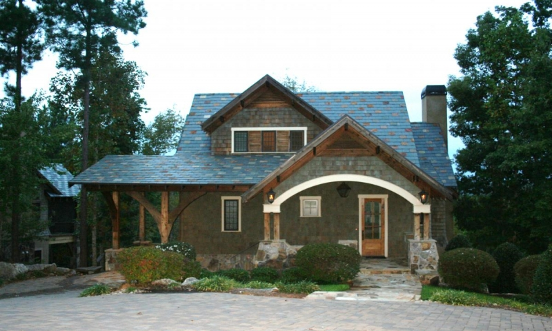 Simple small house floor plans small lake cottage house for Lake keowee house plans