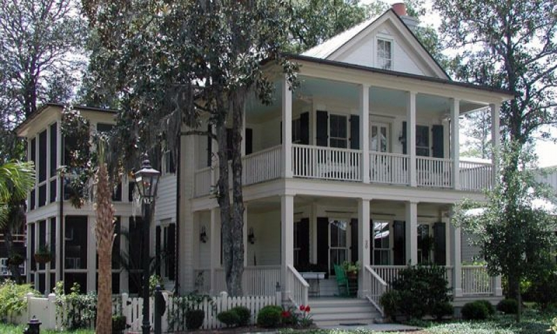 Southern house plan with double porches french country for French country ranch house plans