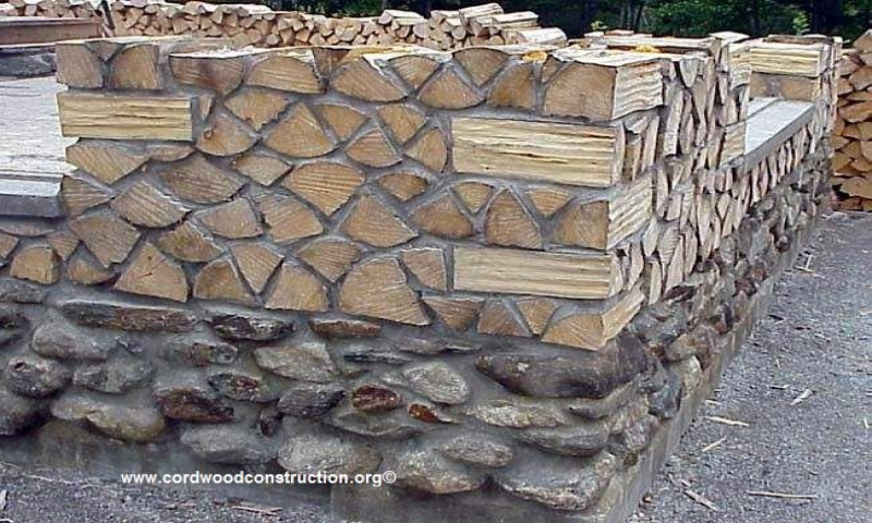 Best wood for cordwood construction cordwood house for Cordwood house cost