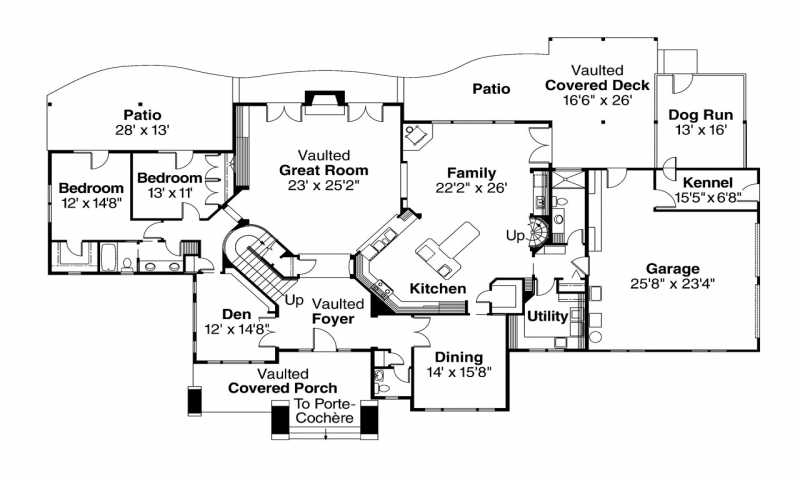 Early dog trot houses dog run style house plans lodge for Dog trot style floor plans