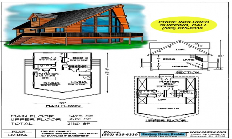 Sales drawing h2110a energy drawing cabin plans 123 for Cabin plans 123