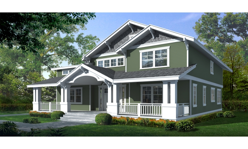 Two story craftsman house plan with front porch beautiful for Beautiful two story homes