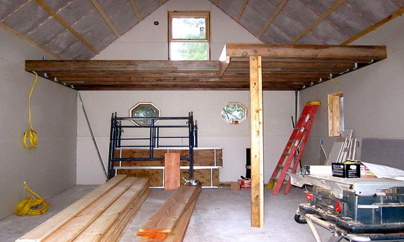 Guest house interiors of sheds small guest house with loft for Build your own guest house