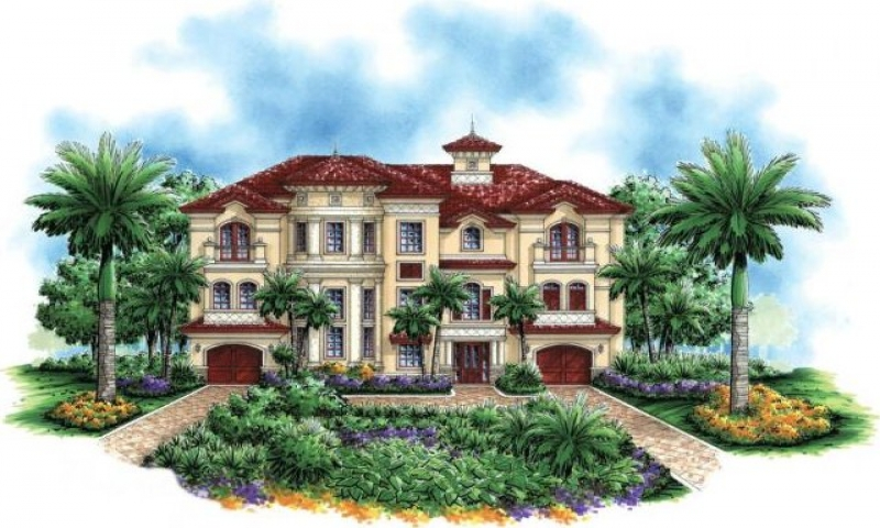 Mediterranean 3 story beach house plans bahamas beaches 3 for 3 story beach house plans on pilings