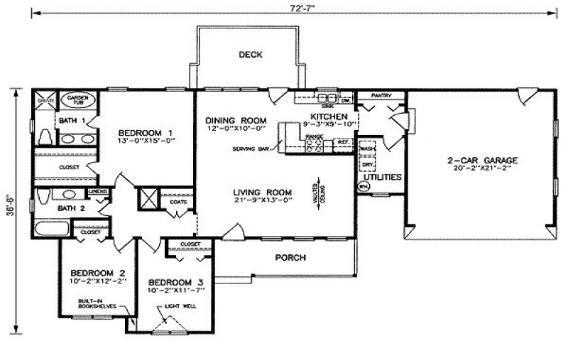 Open floor plan house plans 1500 sq ft 1500 square feet for 800 sq ft open floor plans