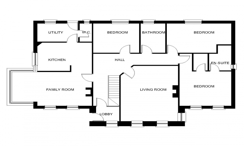 Bungalow house floor plans with dormers bungalow house for Dormer bungalow floor plans