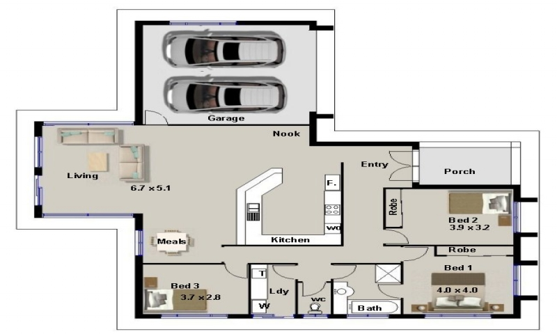 3 Bedroom House Plans With Double Garage Lowe S Home