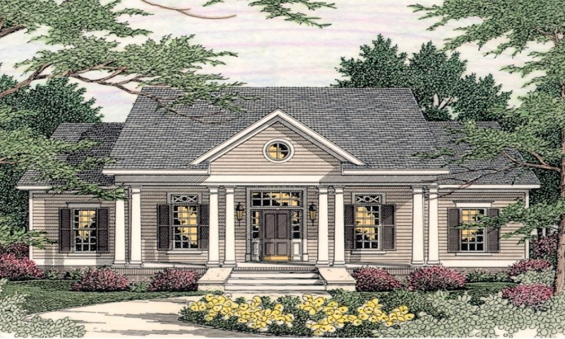 Small southern colonial house plans georgian style house for Southern style ranch home plans